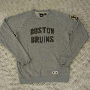 Adidas NHL Boston Bruins FIN Fleece Crew Medium